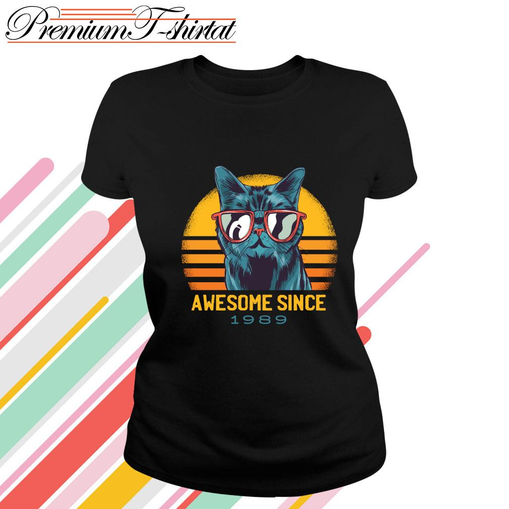 Cat awesome since 1989 vintage s ladies-tee