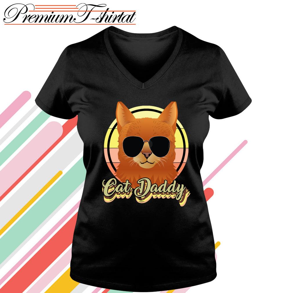 Cat daddy s v-neck-t-shirt