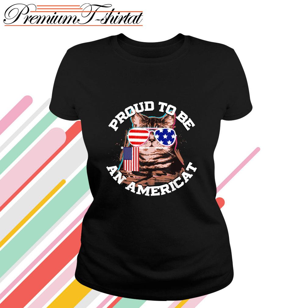 Proud to be an Americat s ladies-tee