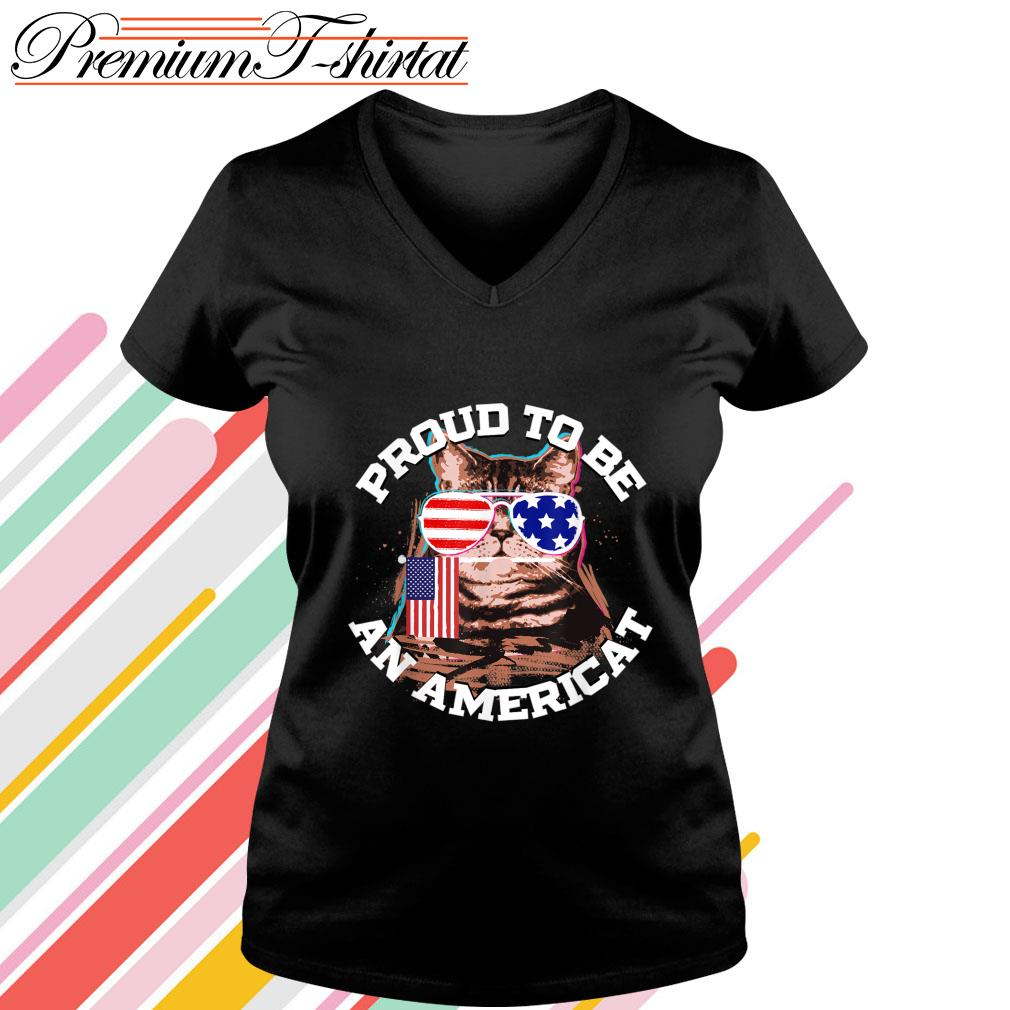 Proud to be an Americat s v-neck-t-shirt