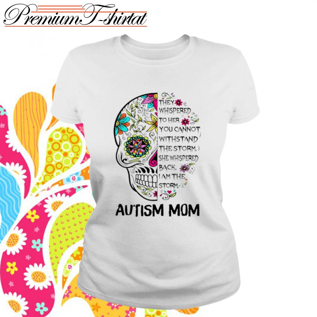 Sugar Skull Diabetes Awareness They Whispered to her you cannot withstand the storm s ladies-tee
