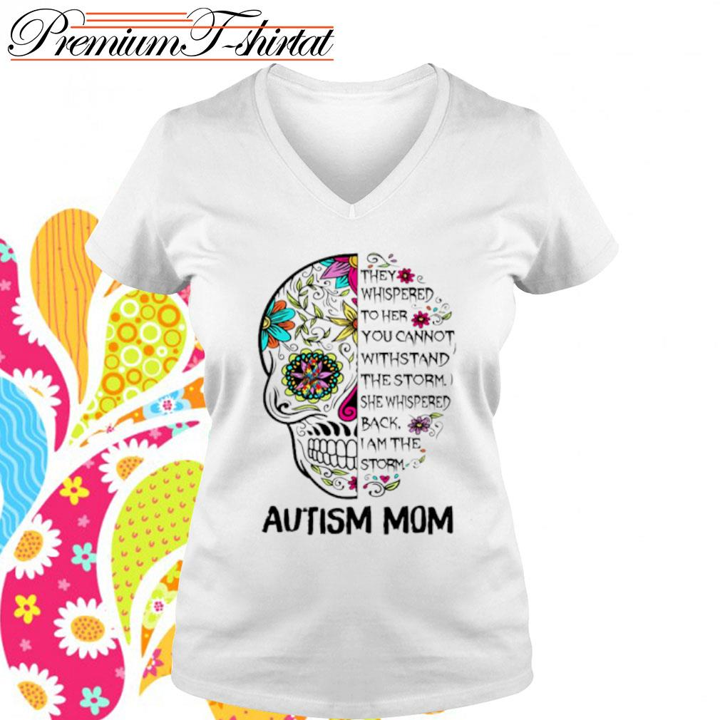 Sugar Skull Diabetes Awareness They Whispered to her you cannot withstand the storm s v-neck-t-shirt
