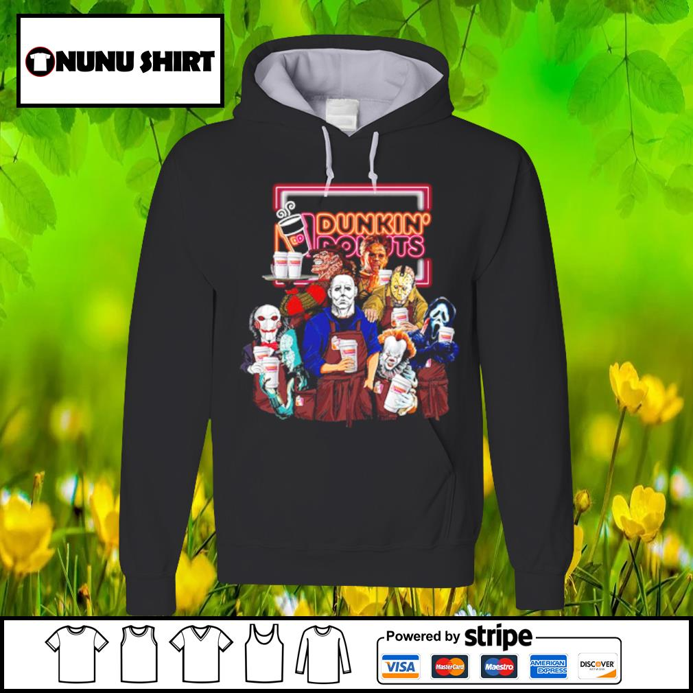 Horror Characters Dunkin_ Donuts halloween s hoodie