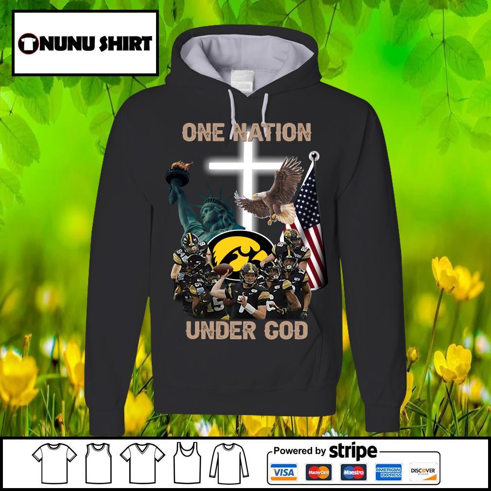 Iowa Hawkeyes one nation under god s hoodie