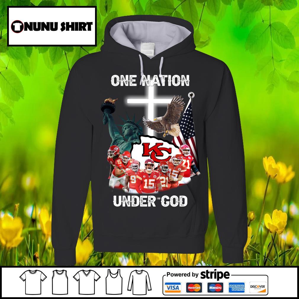 Kansas City Chiefs one nation under God s hoodie