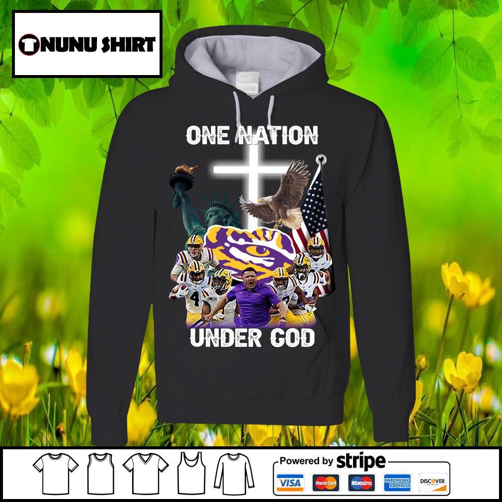 LSU Tigers one nation under God s hoodie