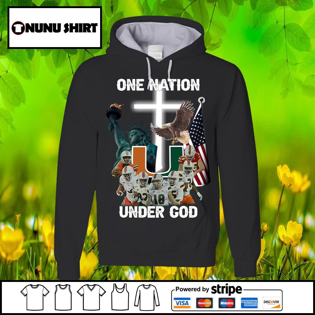 Miami Hurricanes one nation under god s hoodie