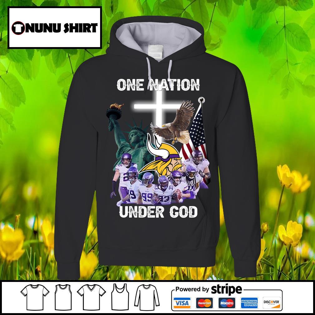 Minnesota Vikings one nation under god s hoodie