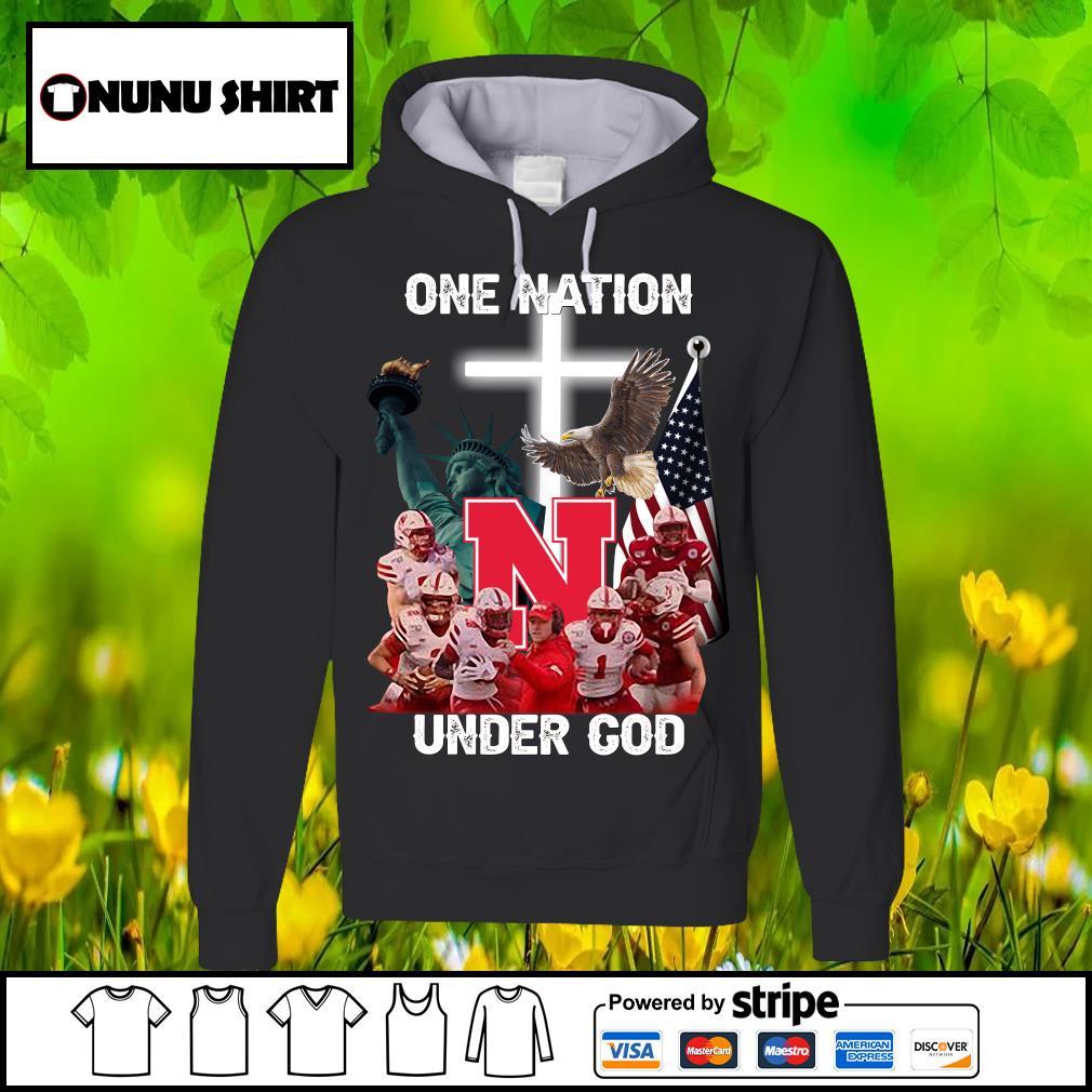 Nebraska Cornhuskers one nation under God s hoodie