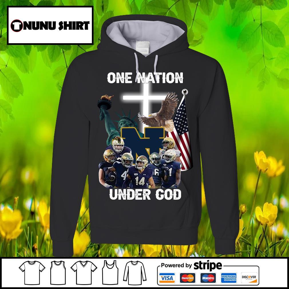 Notre Dame Fighting Irish one nation under god s hoodie