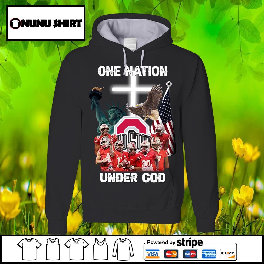 Ohio State Buckeyes one nation under god s hoodie