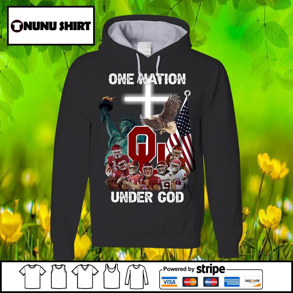 Oklahoma Sooners one nation under God s hoodie