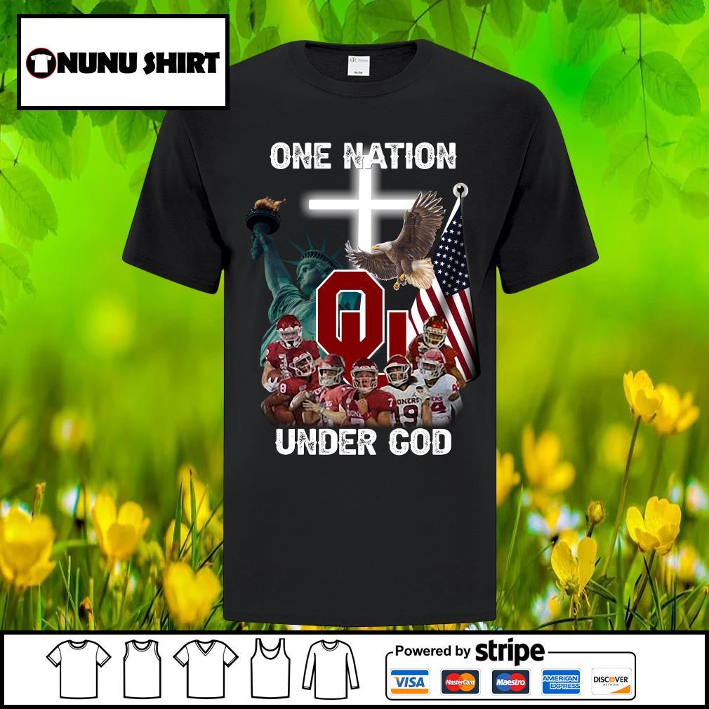 Oklahoma Sooners one nation under God shirt