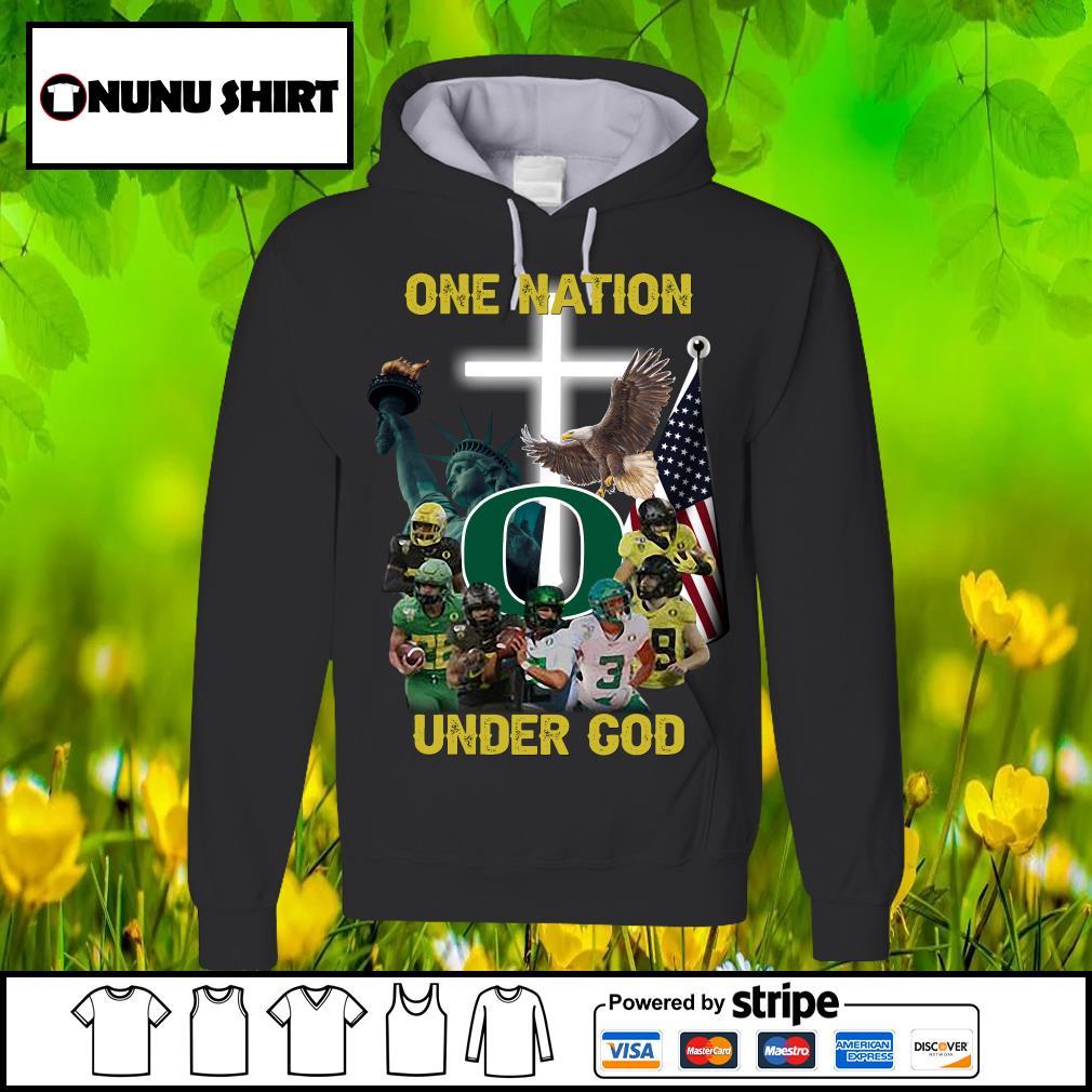 Oregon Ducks one nation under god s hoodie