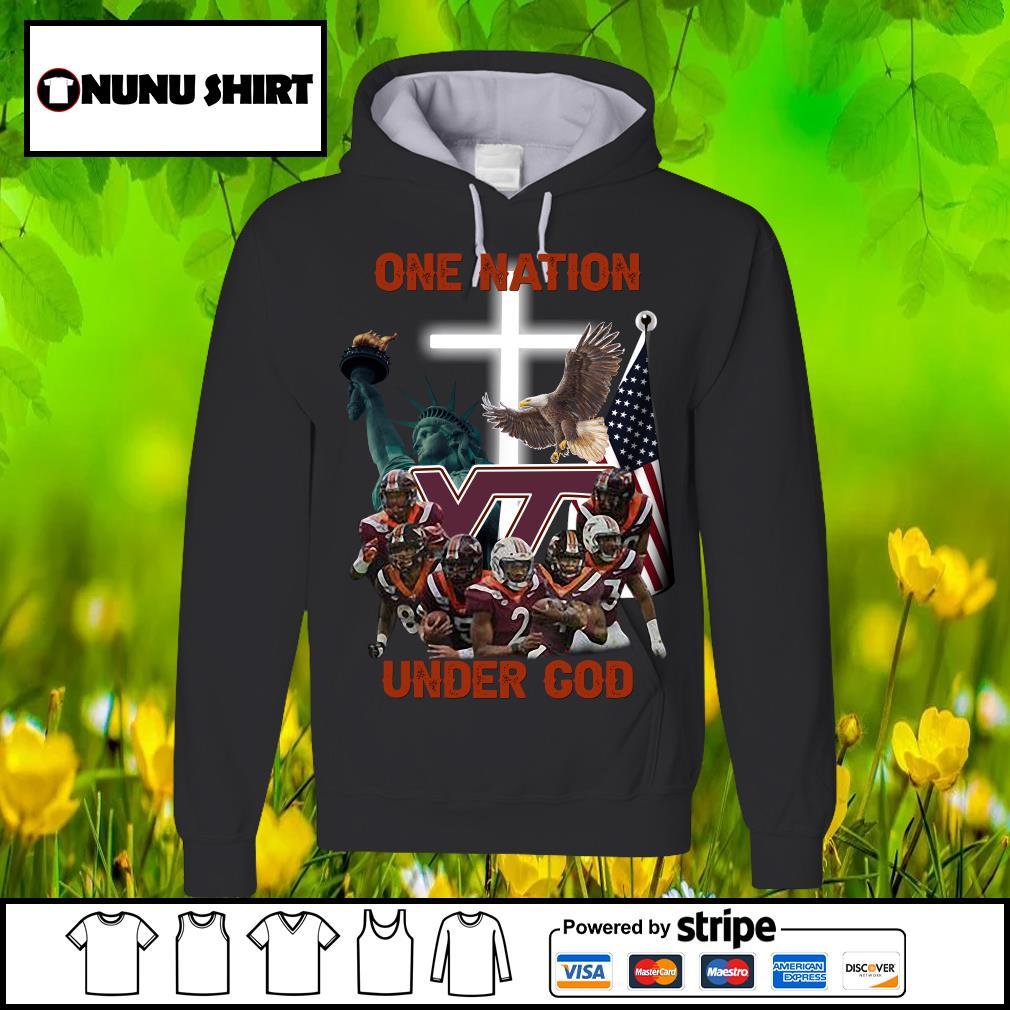 Virginia Tech Hokies one nation under God s hoodie
