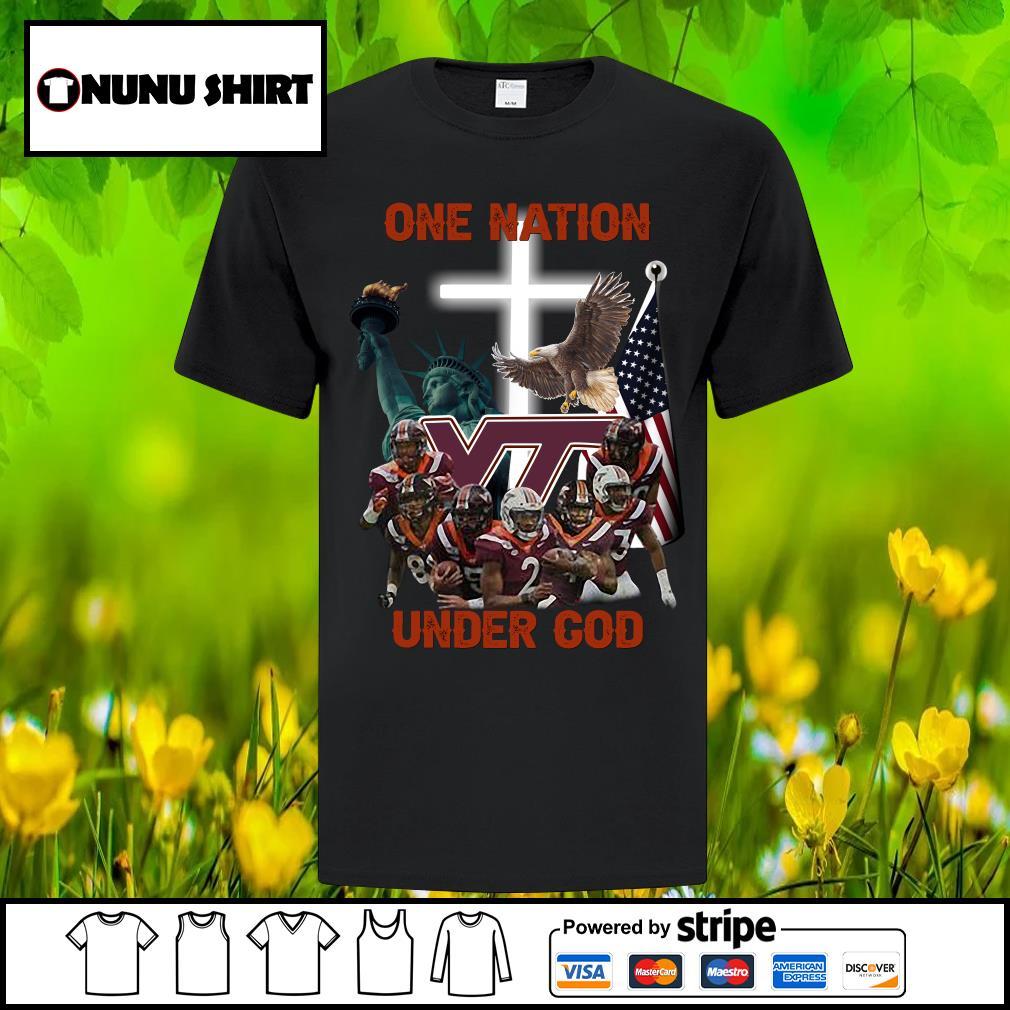 Virginia Tech Hokies one nation under God shirt