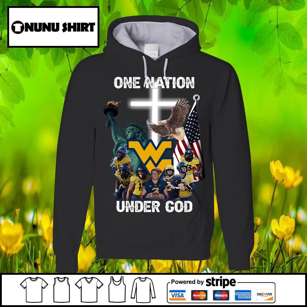 West Virginia Mountaineers one nation under God s hoodie