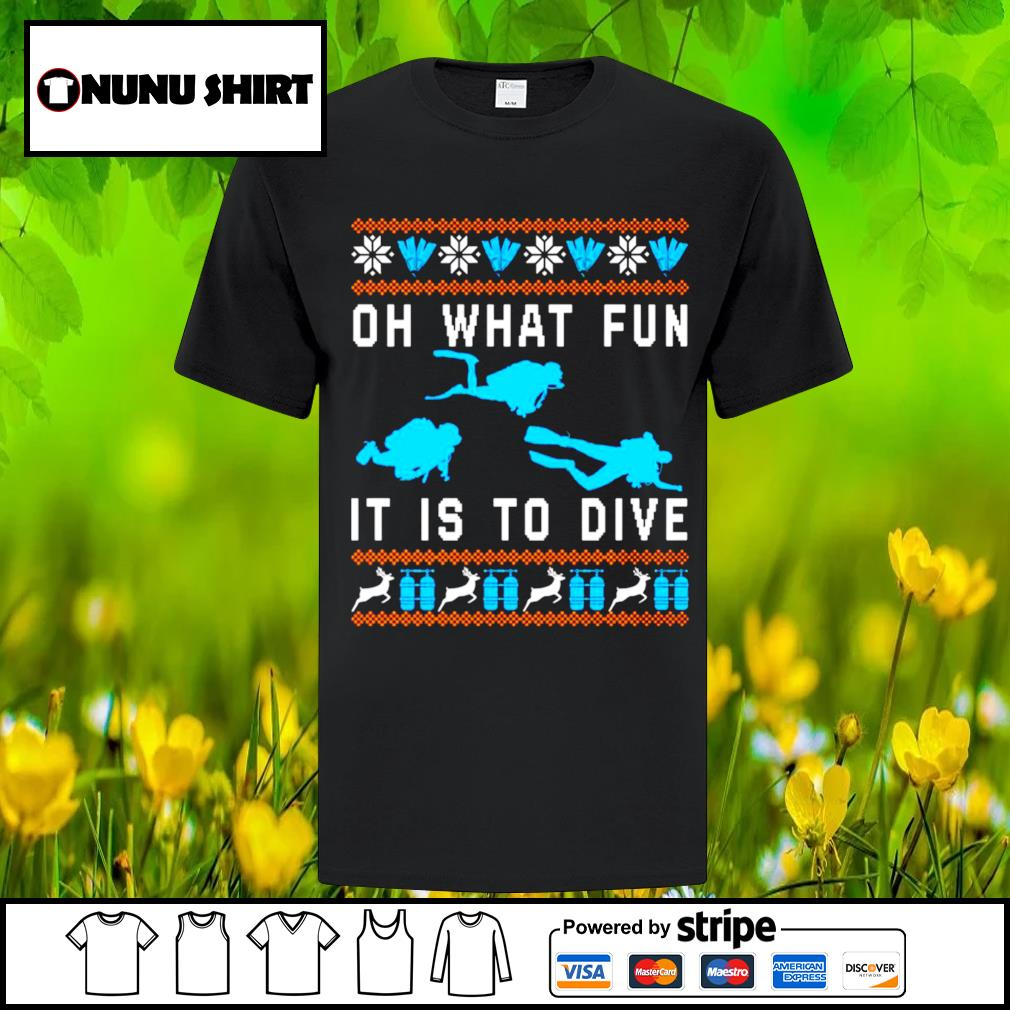 Oh what fun it is to dive Christmas shirt