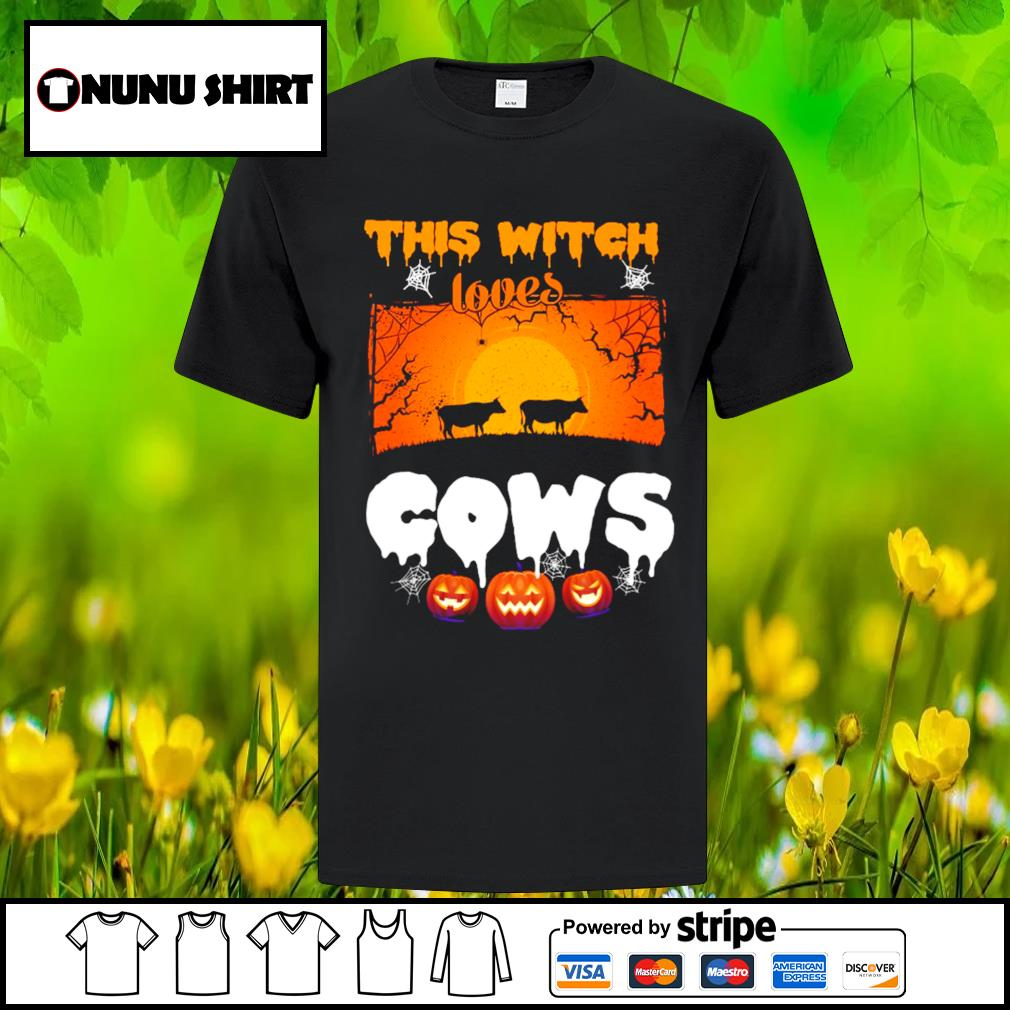 This witch loves cows halloween shirt