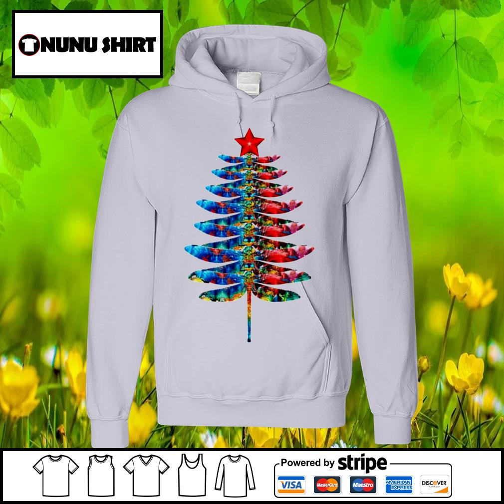 Dragonfly Christmas tree s hoodie