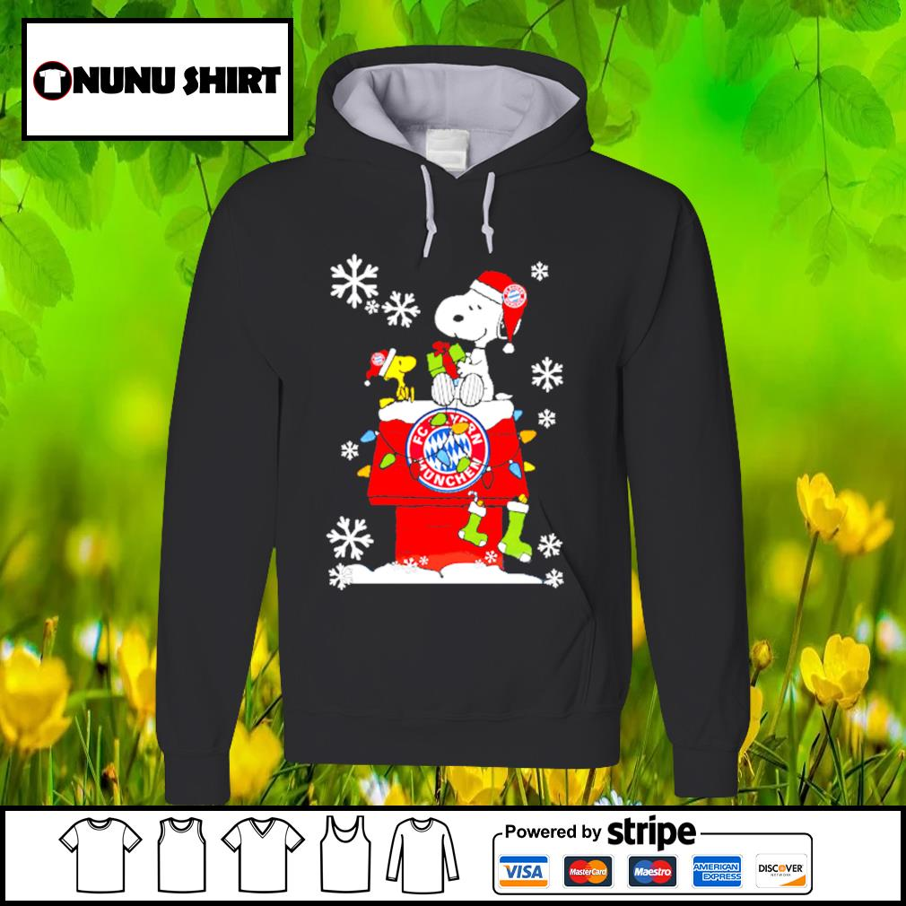 FC Bayern München snoopy and woodstock Christmas shirt, sweater hoodie