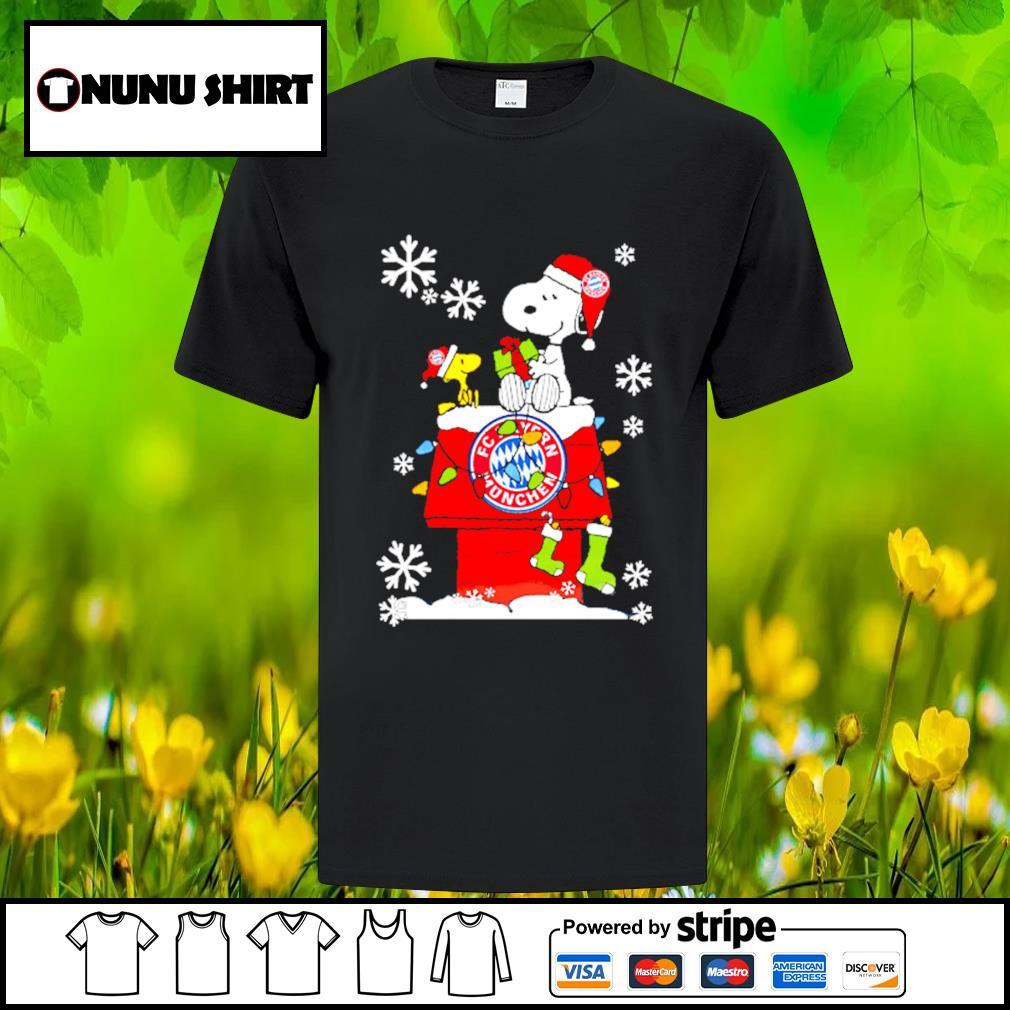 FC Bayern München snoopy and woodstock Christmas shirt, sweater