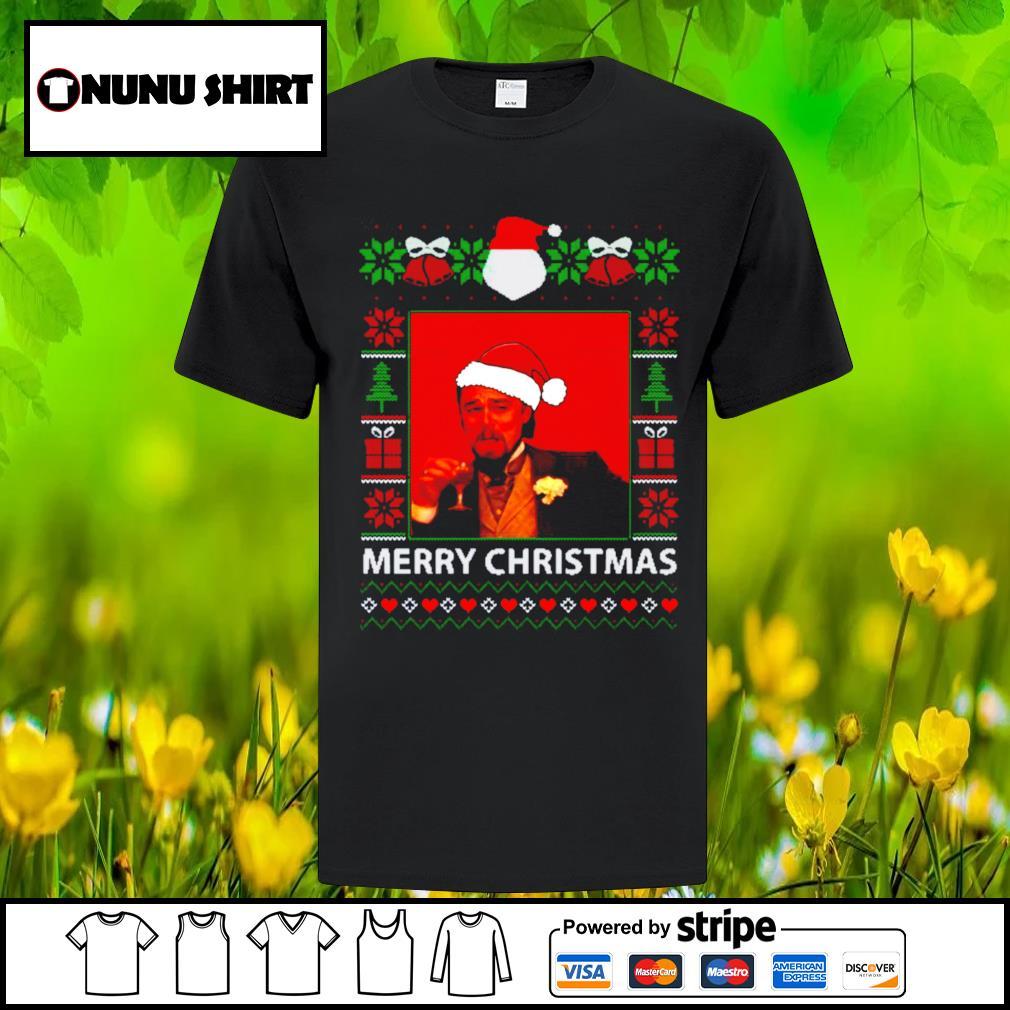 Leonardo Dicaprio Santa hat ugly Merry Christmas shirt, sweatshirt