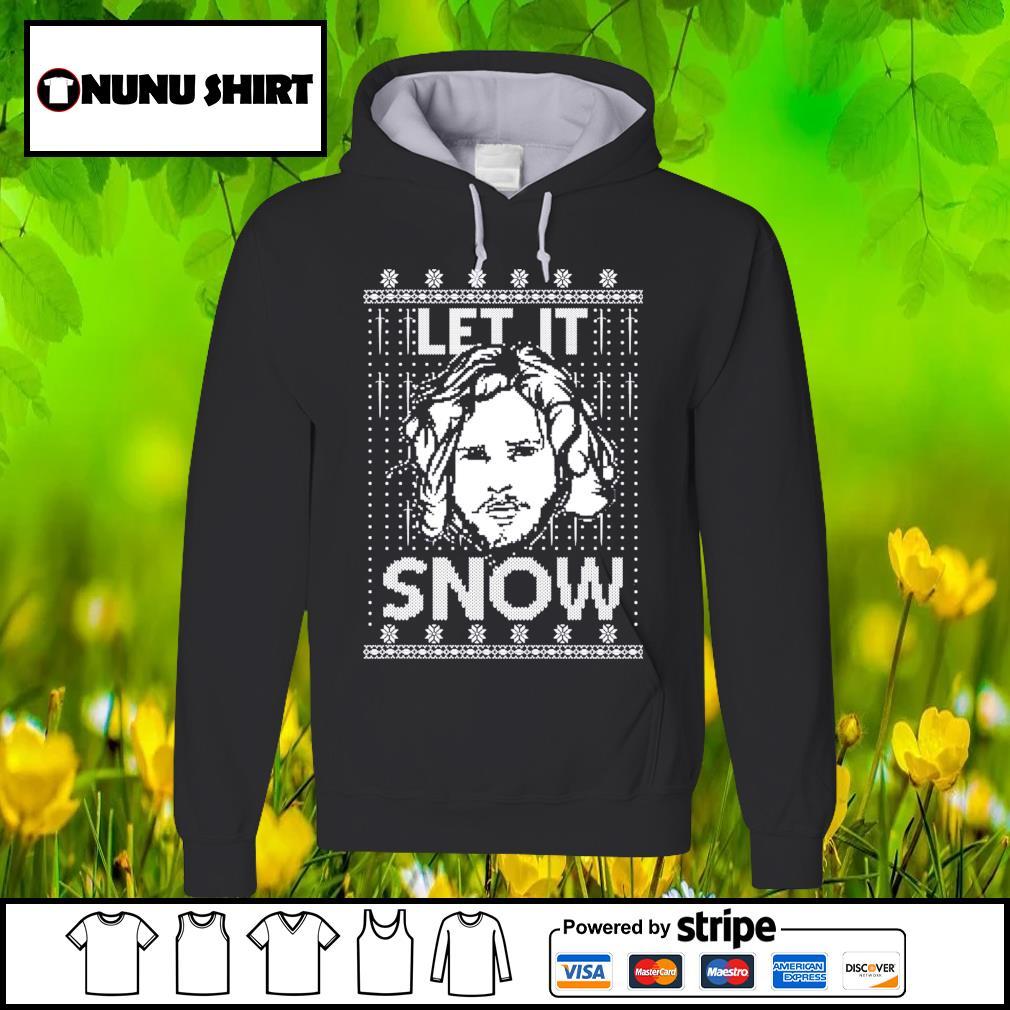 Let it snow Jon Snow Digital ugly Christmas shirt, sweater hoodie