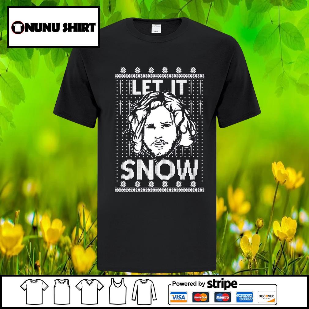 Let it snow Jon Snow Digital ugly Christmas shirt, sweater