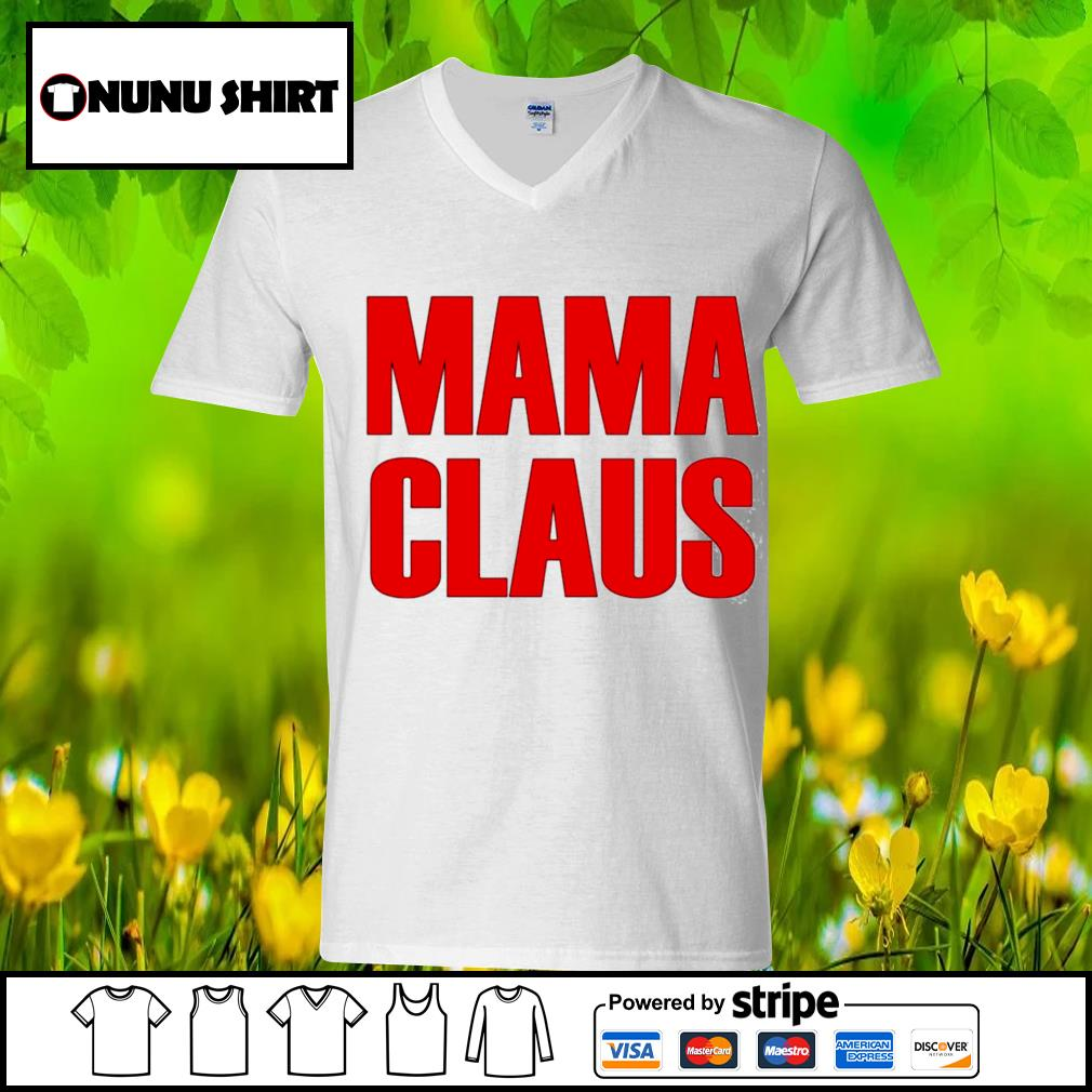 Official mama claus s v-neck t-shirt