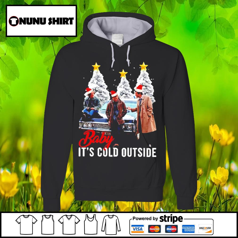 Official Supernatural baby it_s cold outside Christmas s hoodie