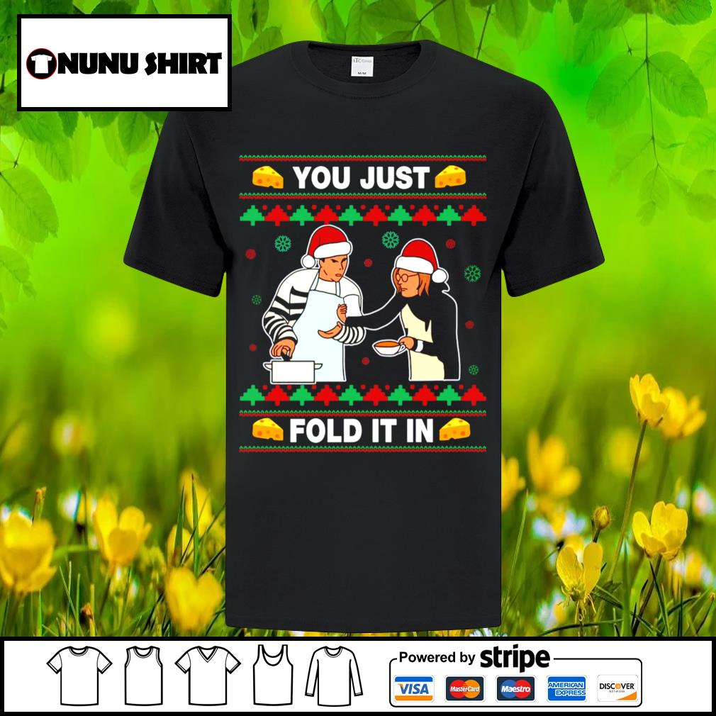 Schitt's Creek you just fold it in Christmas shirt