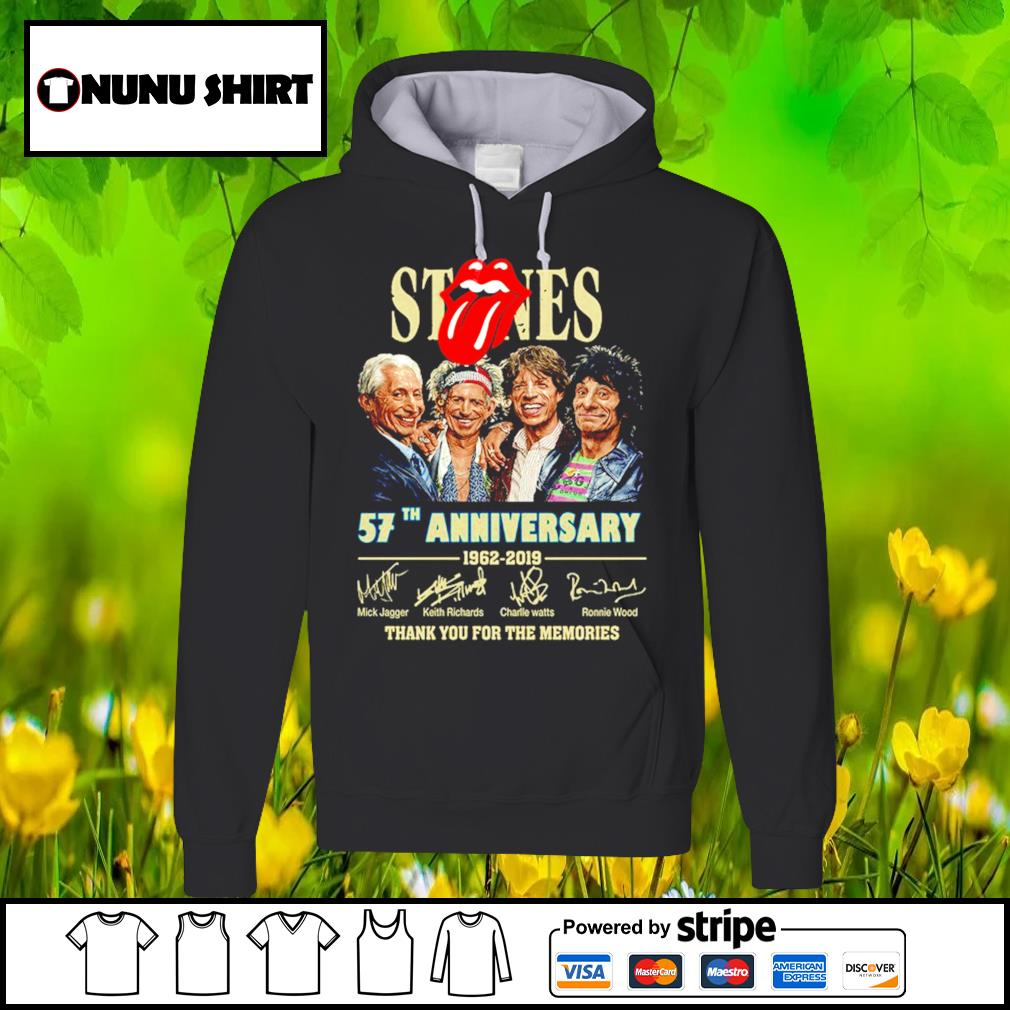 Stones 57th anniversary 1962-2019 thank you for the memories s hoodie