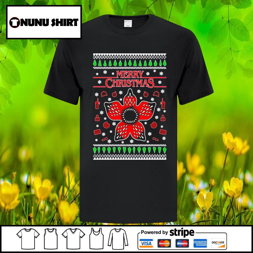 Stranger things 3 ugly Merry Christmas shirt, sweater