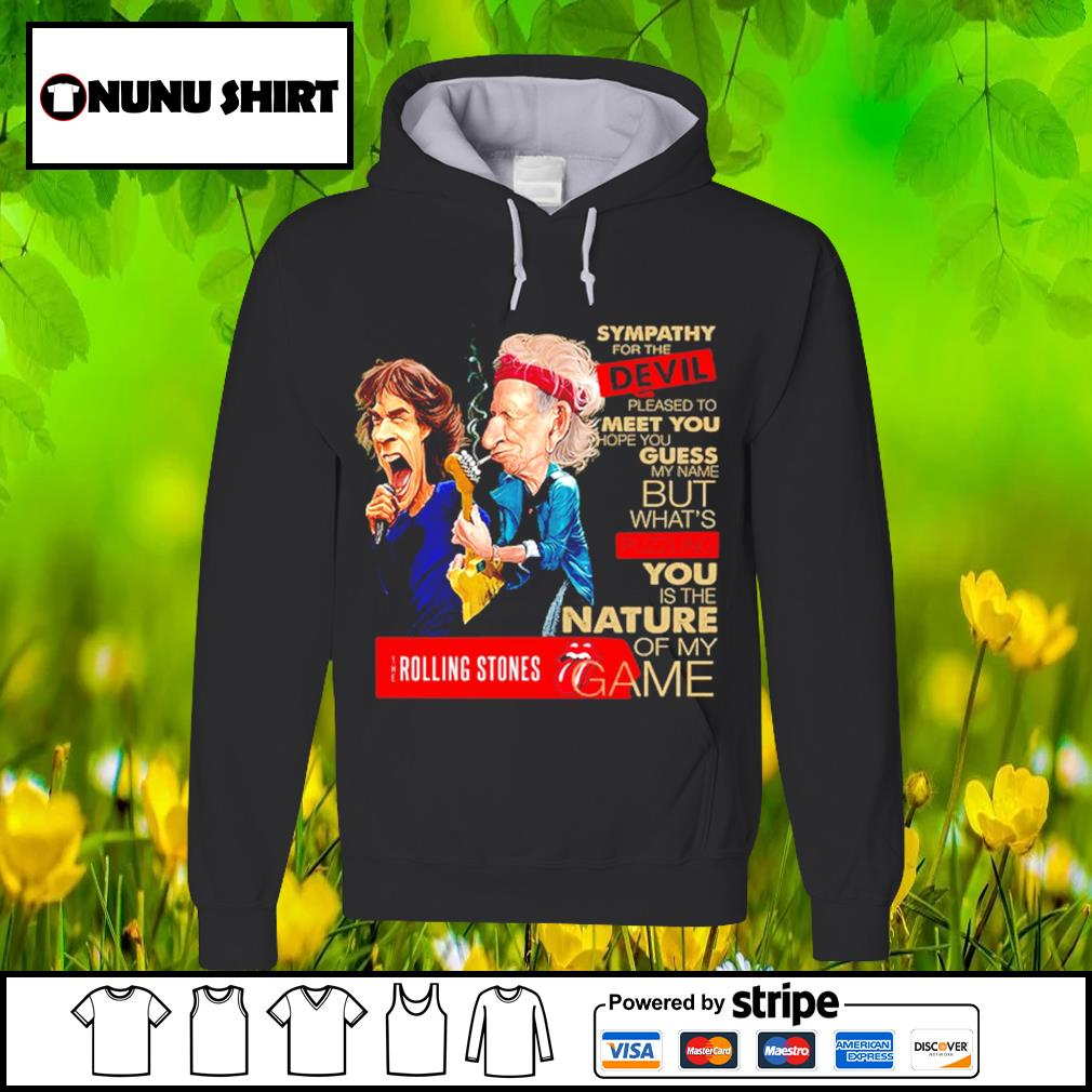 Sympathy for the devil pleased to meet you hope you guess the Rolling Stones s hoodie