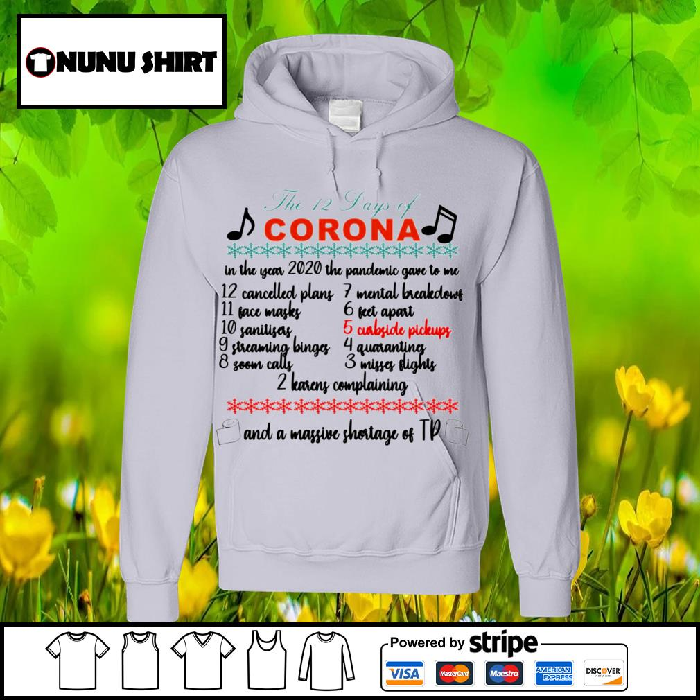 The 12 days of corona and a massive shortage of tp s hoodie