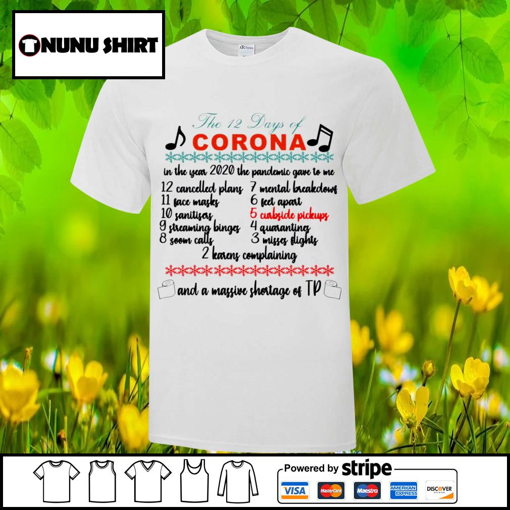 The 12 days of corona and a massive shortage of tp shirt