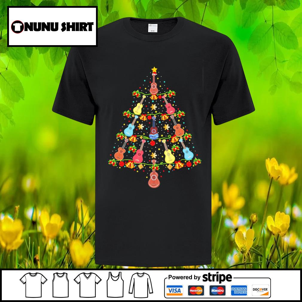 Ukulele Christmas tree Merry Xmas shirt