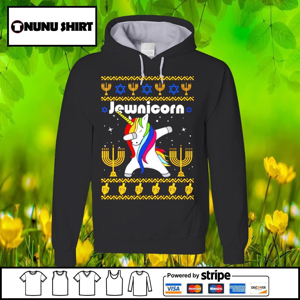 Unicorn dabbing Jewnicorn Christmas shirt, sweater hoodie
