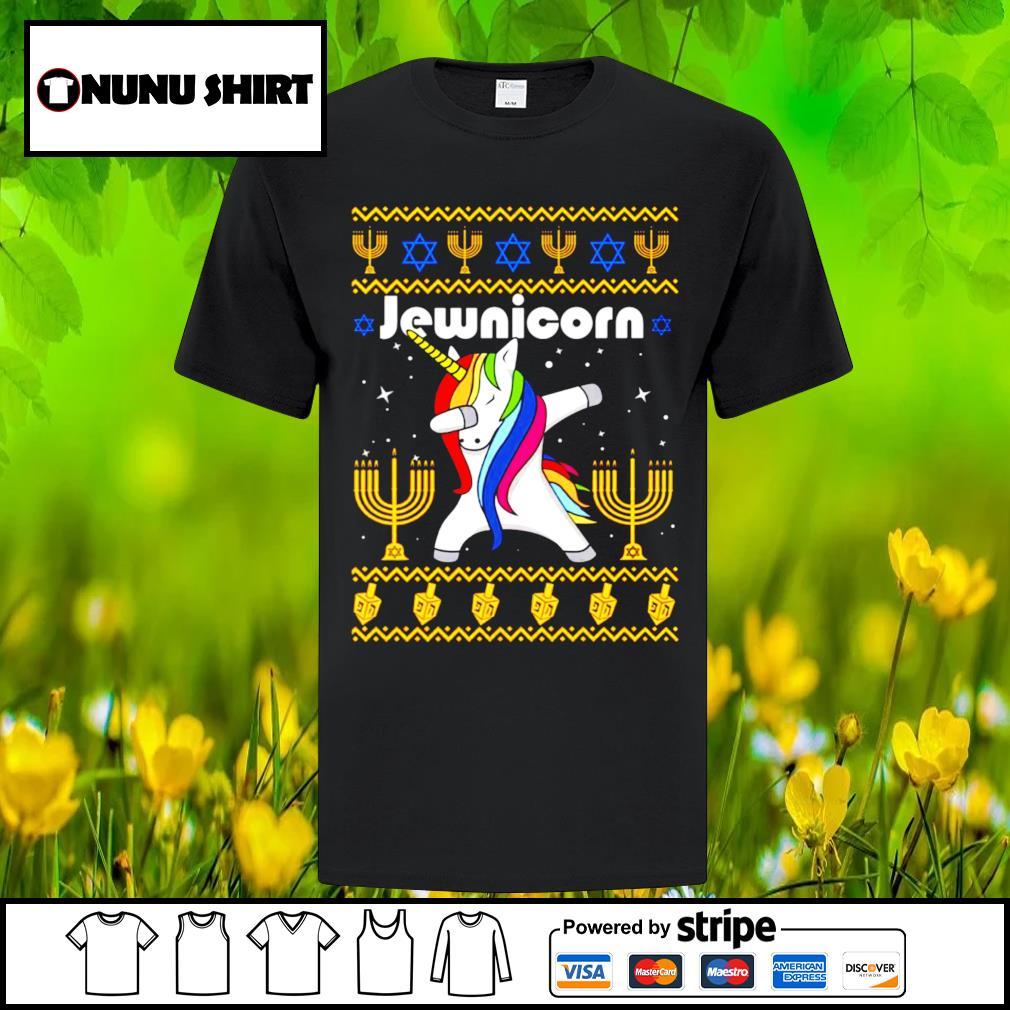 Unicorn dabbing Jewnicorn Christmas shirt, sweater