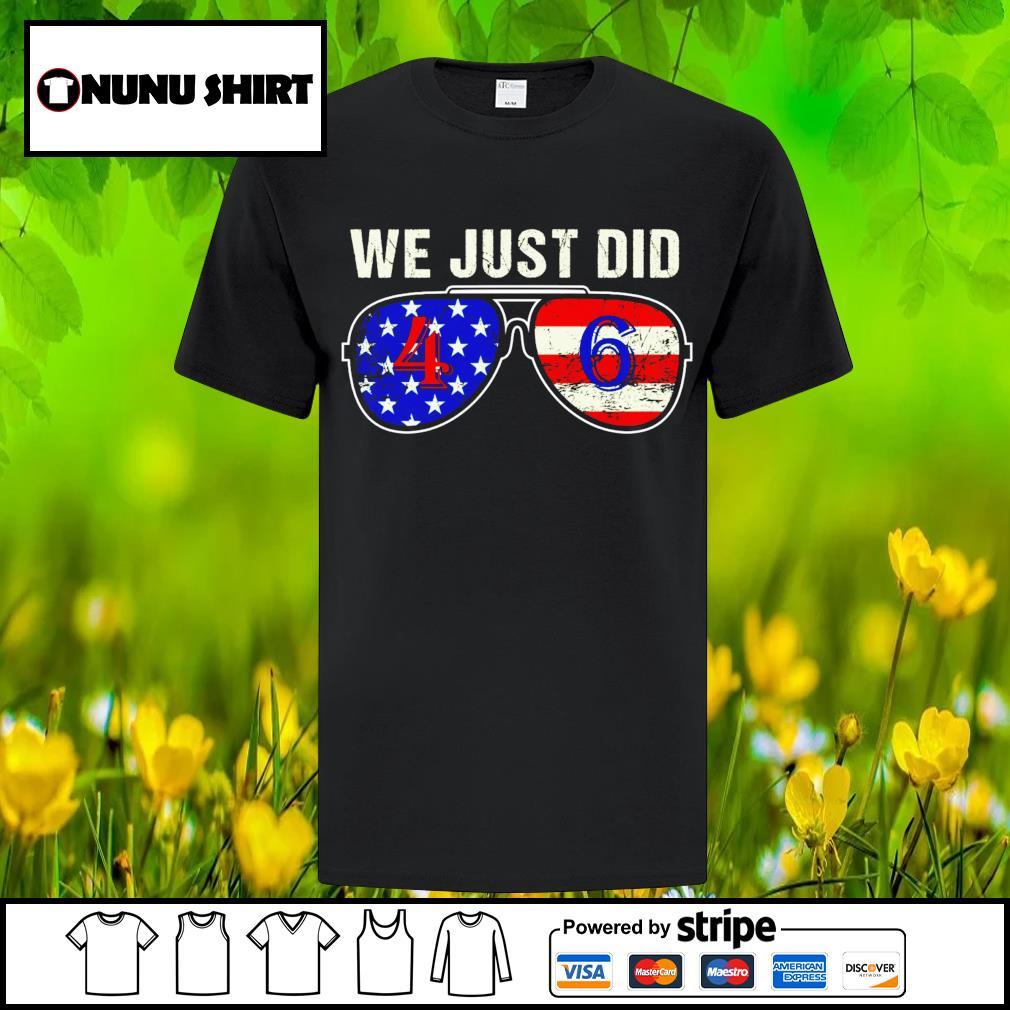 We just did 46 America glass shirt